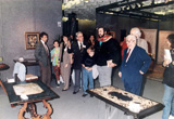 Luciano Pavarotti visits our collection during the first fair of Tuscan antique dealers